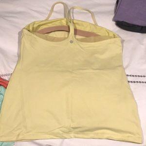 lululemon athletica Tops - Lululemon light yellow racer back workout top